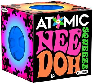 NeeDoh The Groovy Glob Atomic Blue 2.5-Inch Small Stress Ball