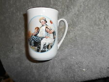 Norman Rockwell Cup - Man And Children - Four Imm - Japan Fine Porcelain