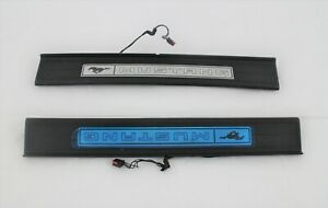 interior Illuminated Sill Scuff step Trim Plates 2pc fits 2015-2021 Ford Mustang