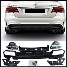 Mercedes W212  E class 2014- E63 look rear bumper diffuser kit