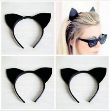 Women's Sexy Cute Black Cat Ears Headband Evening Costume Party Holiday Hairband