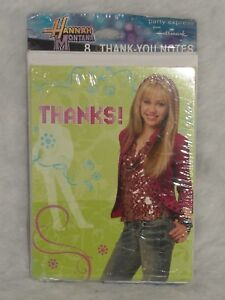 Hannah Montana Thank You Notes 8 Hallmark Cards & Envelopes