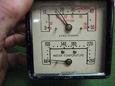 Vintage US. GAUGE CO. N.Y. Presure, Altitude & Water Temp Gauge ~ Aviation?