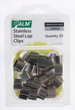 25 Stainless Steel Lap G Glazing Clips for fixing greenhouse window panes