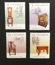 Taiwan 2003-7 Early Taiwan Furnitures.  Sc#3489-92.  MNH