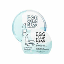[USA] Too Cool For School Egg Cream Facial Mask Pack #Pore Tightening (5pcs)