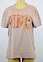 NWT Victoria's Secret PINK SEQUIN GRAPHIC SHORT SLEEVE SHIRT SMALL +B199