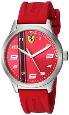 Ferrari Boy's 810014 Pitlane 34mm Stainless Steel Red Dial Red Rubber 0810016