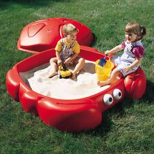 Step2 Crabbie Sandbox Kids Plastic Outdoor Sandbox + Cover Playground Red