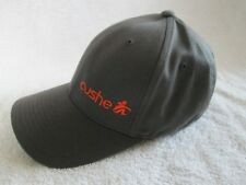 cushe logo baseball cap flexfit s-m gray with orange