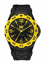 CAT WATCHES Mens Motion Quartz Plastic and Rubber Watch, Color:Black Model:
