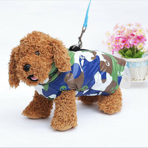 Small Large Pet Dog Cotton Vest Camouflage Clothes Warmer Coat Waterproof Jacket