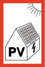 Pegatinas fotovoltaica PVA PV solar anexo DIN VDE 10x15cm UV -/Blickschutz