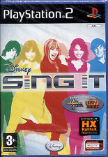 DISNEY SING IT - PS2 NUOVO E SIGILLATO, PRIMA STAMPA ITALIANA