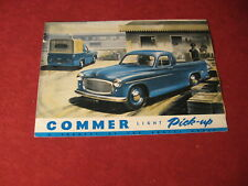 1953 Commer Pickup Truck Sales Brochure Booklet Catalog Book Old