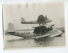SHORT MAYO COMPOSITE FLYING BOAT VINTAGE STAMPED PHOTO 1938 MAIA MERCURY