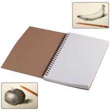 A5 Vintage Spiral Coils Blank Notebook Note Book Travel Journal Diary 100 Pages