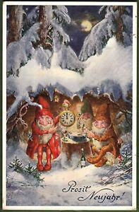 AK, Prosit Neujahr, Zwergenparty in der verschneiten Baumhöhle um Mitternacht***