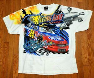 Vintage 2002 Jeff Gordon Dupont Racing Chase T-Shirt NASCAR All Over Print XL