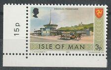 ISLE OF MAN 1973 ISLAND VIEWS 3p COMMEMORATIVE STAMP VARIETY MATT GUM MNH