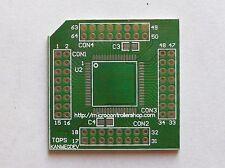 Atmel AVR Atmega 64-pin QFP Breakout Board, PCB