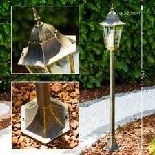 Außen Stehleuchte klassische Wegeleuchte Gartenlampe Pollerleuchte braun-gold