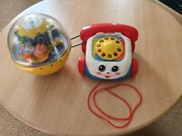 FisherPrice Chatter Phone,musical rollabout Vintage Infant Toddlers toy bundle.