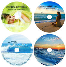 4 CDs:NATURE SOUNDS MEDITATION COLLECTION-WAVES MUSIC DEEP SLEEP SEA RELAXATION
