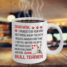 Bull Terrier dog,English BullTerrier,Bully,The White Dog,Wedge,Cup,Mugs