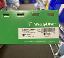 Box Of 6 Welch Allyn 07800 U 6v Halogen Lamp New