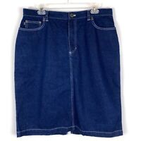 Ralph Lauren Jeans Co Denim Jean Skirt Modest Knee Length Womens Size 14W