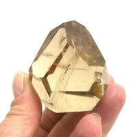 Natural Citrine Crystal Single Point Cut Base Freestanding Polished 5cm A Grade