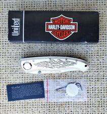 Harley-Davidson Elite Legend Folding Knife Fred Carter CryoEdge HD0051SCSB