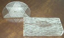 Vintage Wilardy Lucite Kleenex Box & Acrylic Guest Towel Holder