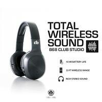 DE Headphones - Decibel B68 Bluetooth Over Ear Headphones Club Studio - Black