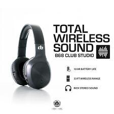 De Auriculares-Decibel B68 Bluetooth sobre Auriculares Club Studio-Negro
