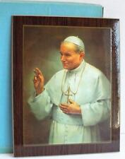 "Vintage SAINT POPE JOHN PAUL II Large Wall Hanging Plaque Artwork 14"" x 11"""