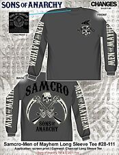 Sons Of Anarchy Soa Men Of Mayhem Samcro Cruzado Pistola Hoz L/S Camiseta S-3XL