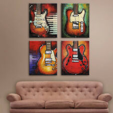 Modern Canvas Prints Wall Art Landscape Picture Bedroom Wall Decor Guitar-S