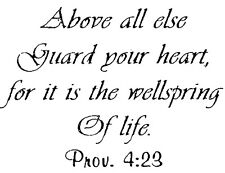 Mounted Rubber Stamp, Bible Verse, Christian Stamps, Guard Your Heart, Prov 4:23