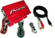 Mitzu Mit-75R 2 Channel Car Power Motorcycle ATV Audio Mp3 Amplifier Amp - Red