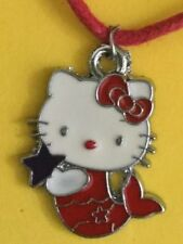 HELLO KITTY MERMAID NECKLACE CHARM AND FREE CORD fashion Jewelry