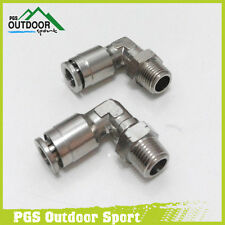 A Lot of 2 Paintball 90 Degree Swivel Elbow Macroline Macro Micro Line Fitting