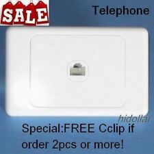PHONE OUTLET POINT SOCKET WALL PLATE TELEPHONE SOCKET RJ11 CAT3 GLOSS WHITE
