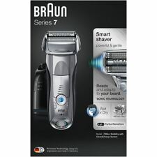 Braun Series 7 7898cc Mens Electric Foil Shaver Wet/Dry + Clean & Charge Station