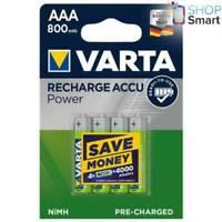 4 VARTA RECHARGE ACCU POWER AAA HR03 BATTERIES 1.2V 800mAh NiMH MICRO NEW