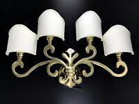 Applique ottone fusione lampada parete mod giglio fiorentino