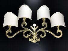 Applique Lampe Orris Laiton Poli avec Ventilateurs à Parchemin Bian