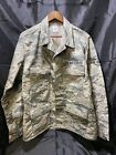 Military Digital Camo Shirt Jacket Size 44R - US AIR FORCE USAF Not Used Large