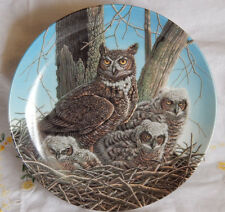 The Great Horned Owl Plate The Stately Owls